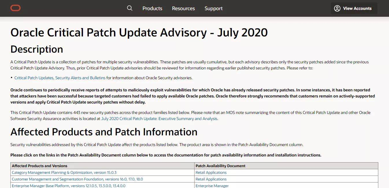 Oracle发布7月份安全公告,360安全大脑测绘云再获Oracle官方致谢