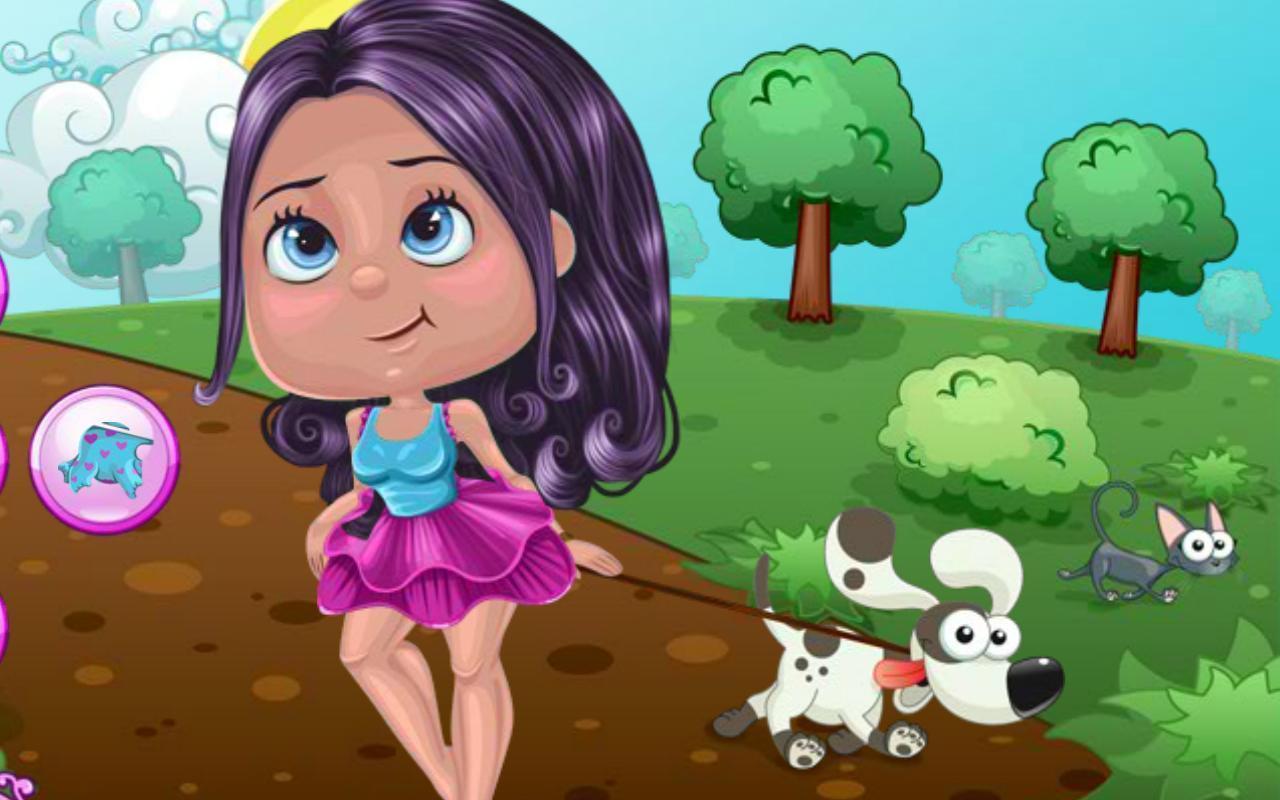 彩色學校風景學生卡通少女