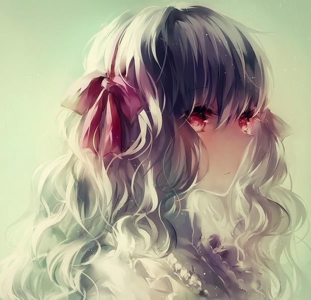 求傷感的動漫女生姐妹頭像