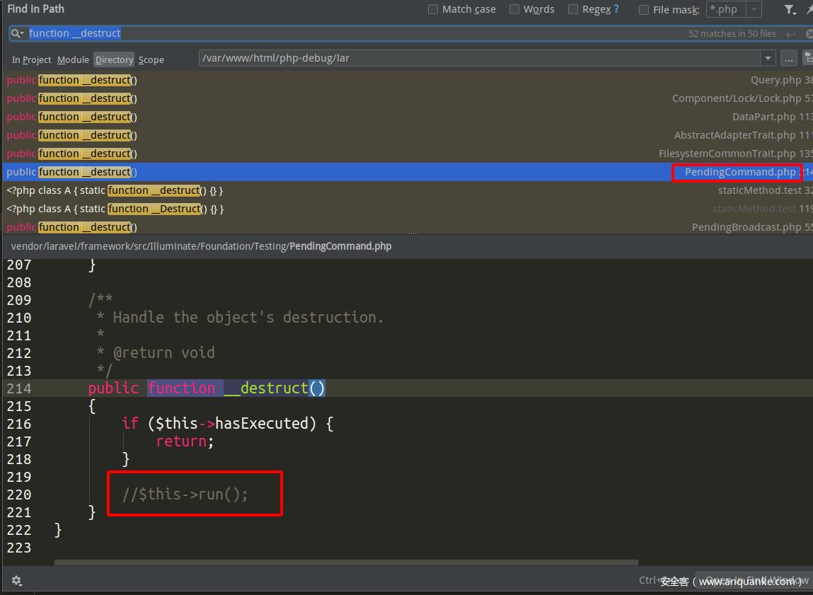 Laravel 5.8 RCE POP链汇总分析