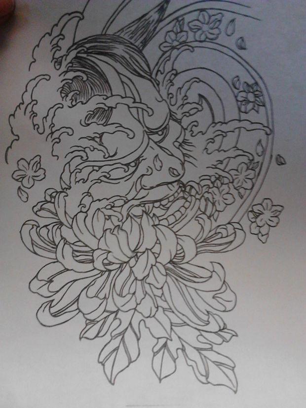 般若紋身手稿分享展示圖片